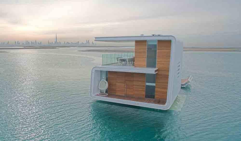 Casas ultraluxuosas embaixo d´água são construídas em Dubai. Foto: Divulgação