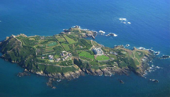 Frederick e David Barclay - Brecqhou, Ilhas Anglo-Normandas, Reino Unido
