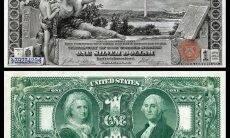 US $ 1 por volta de 1896.