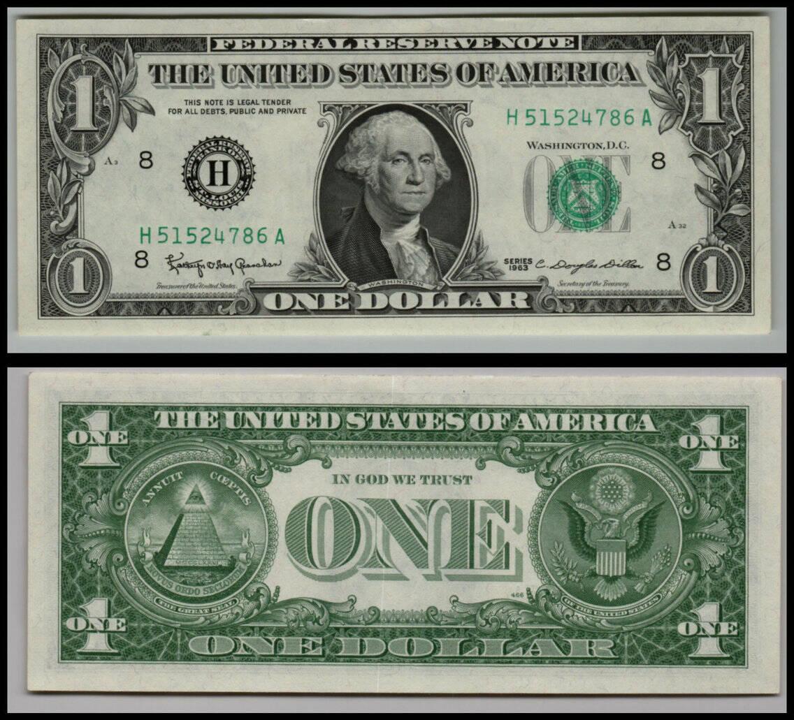US $ 1 de 1963
