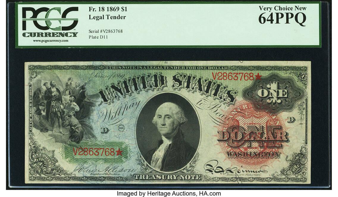 Uma nota de 1869