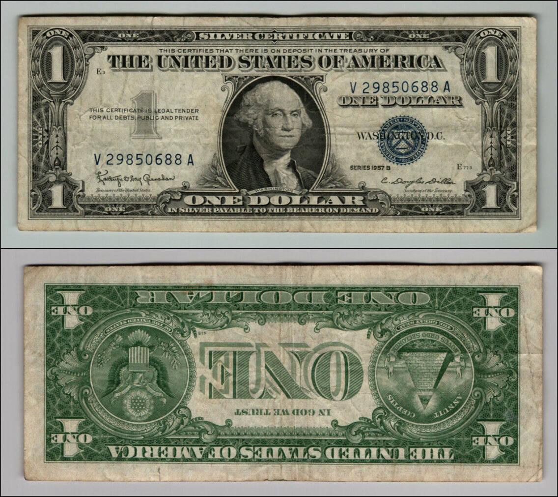 US $ 1 por volta de 1957
