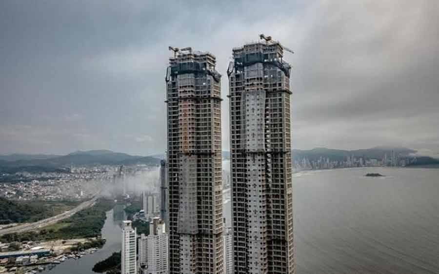 Yachthouse, o maior edifício residencial da América Latina atinge último pavimento
