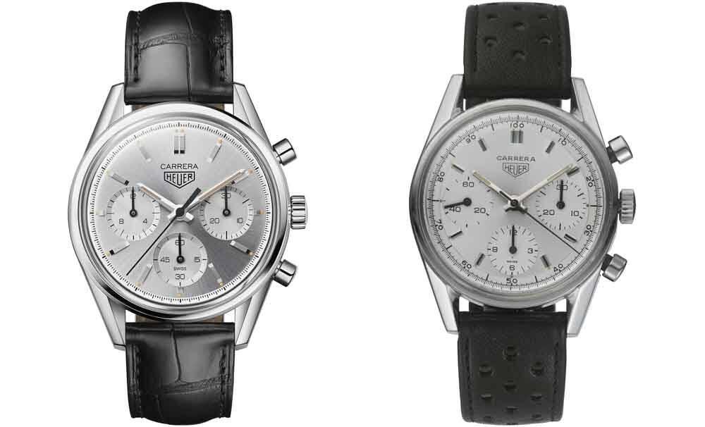 A edição limitada de prata de 160 anos (esquerda) e uma original 2447SD (direita).