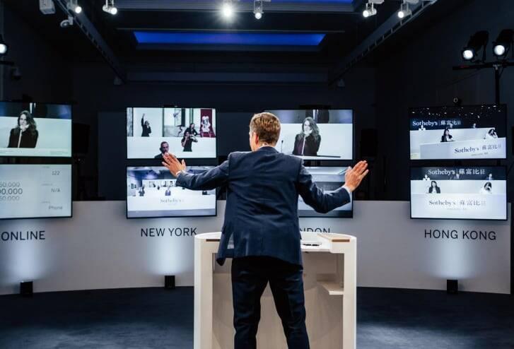 Leilão da Sotheby's é feito sem a presença do público