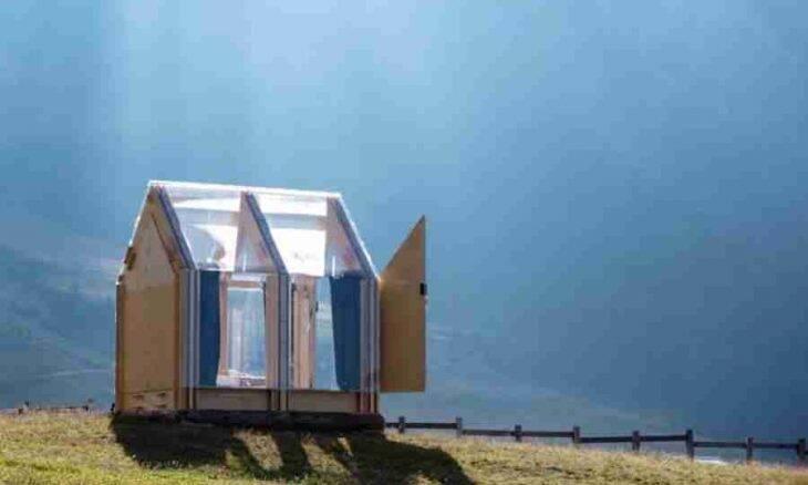 Itália: cabine transparente permite que você durma sob as estrelas