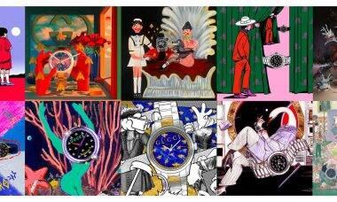 Gucci cria projeto coletivo para transformar relógio G-Timeless em arte