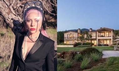 Lady Gaga passa quarentena em mansão de R$ 123 milhões