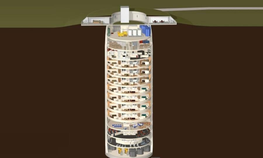 Bunker de luxo que pode suportar ataques nucleares vem com piscina e cinema