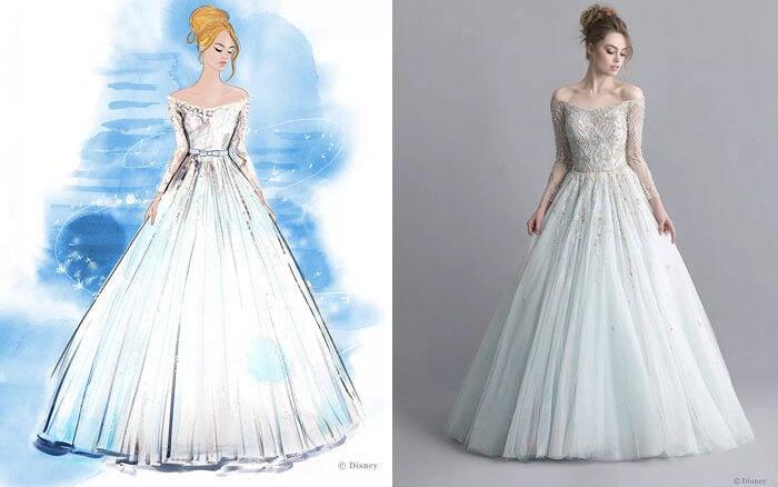 Vestidos de noiva inspirados nas princesas da Disney