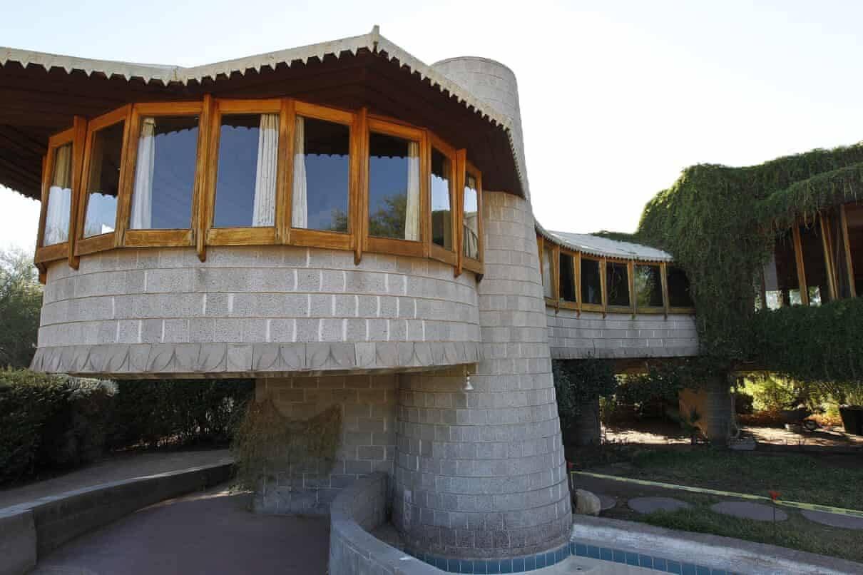 Uma foto de 2012 da casa de David e Gladys Wright em Phoenix. Frank Lloyd Wright morreu em 1959.
