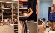 Adriane Galisteu abre closet durante arrumação e impressiona fãs