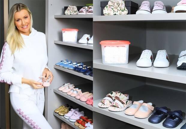 Ana Paula Siebert mostra closet gigante de Vicky, sua filha com Justus