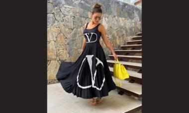 Andressa Suita exibe look grifado de R$ 55 mil em viagem em Angra dos Reis