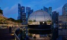 Por dentro da primeira loja flutuante da Apple, em Singapura