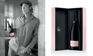 Brad Pitt lança champanhe rosé de edição limitada produzido na França
