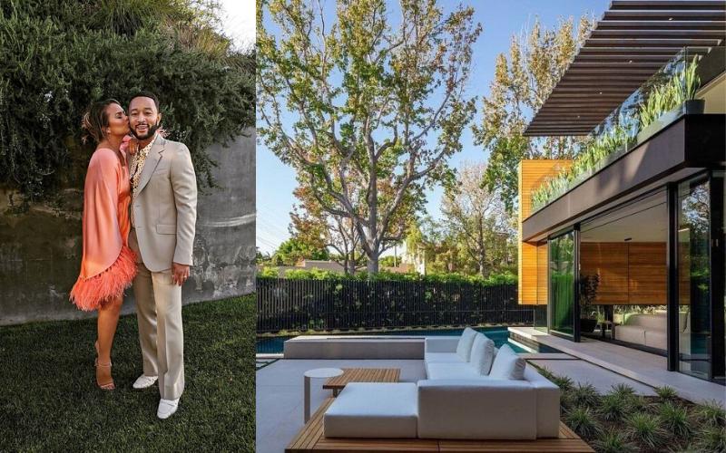 Por dentro da mansão de R$ 85 milhões alugada por John Legend e Chrissy Teigen