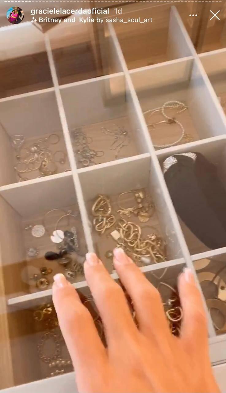 Graciele Lacerda impressiona seguidores ao mostrar closet do novo duplex de luxo