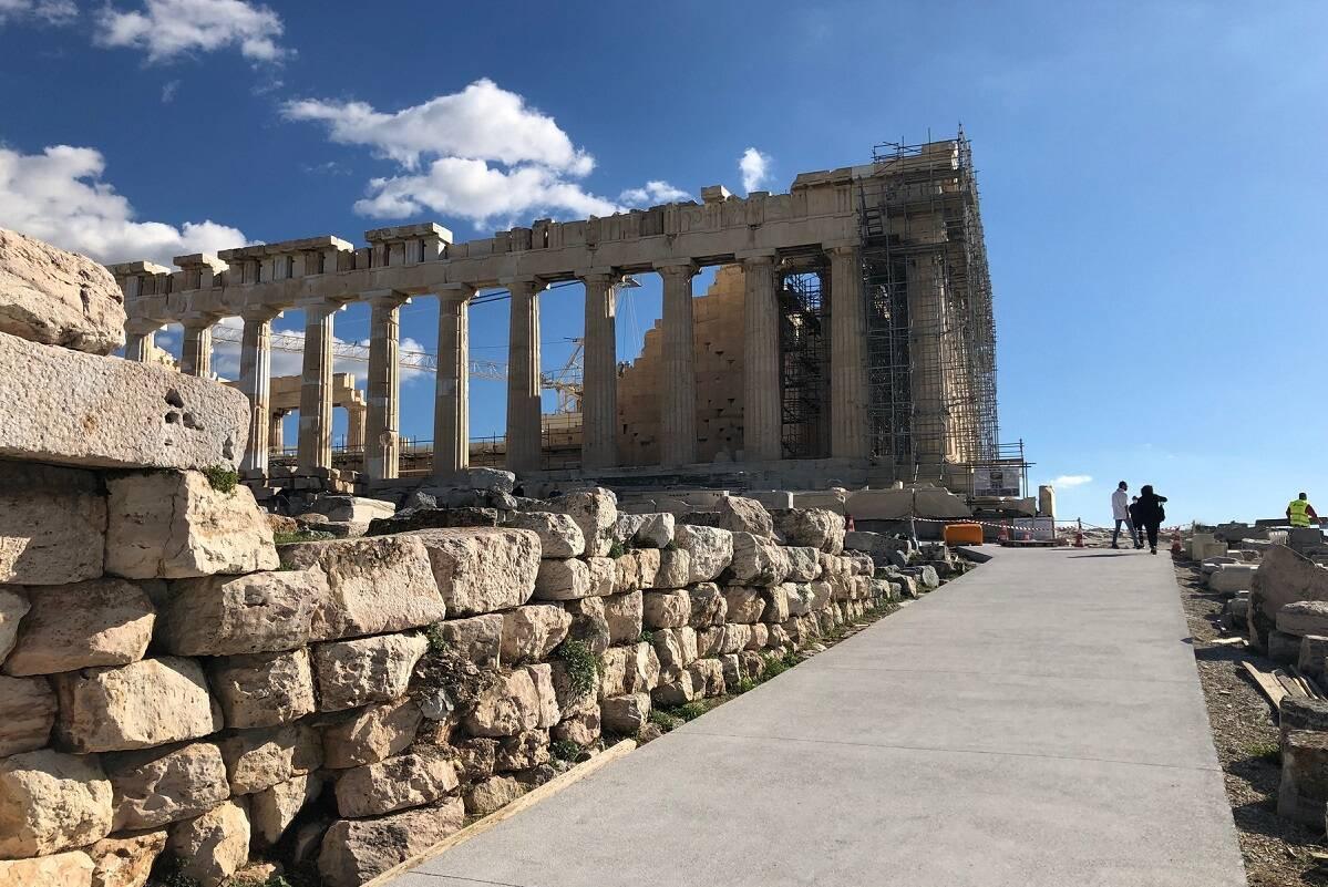 Acrópole. Foto: Divulgação/Ministério da Cultura da Grécia