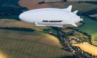 Dirigível ecológico. Imagens: Divulgação/Hybrid Air Vehicles
