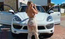 Viih Tube e seu novo Porsche Cayenne. Imagens: Reprodução/Instagram