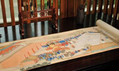 Pergaminho chinês. Fotos: Divulgação/Poly Auction