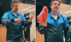 Marcos Mion mostra tênis milionário que usará na Globo. Fotos: Reprodução/Instagram