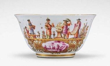 Um dos objetos da coleção de porcelana Meissen. Fotos: Divulgação/Sotheby's