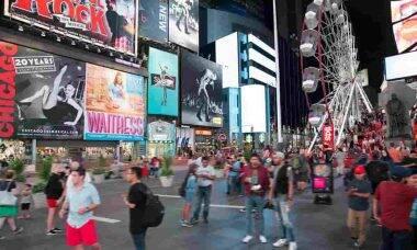 Roda-gigante na Times Square. Foto: Divulgação/Times Square Alliance