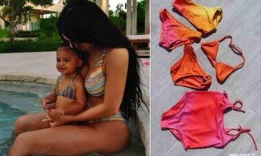 Kylie Jenner vai lançar roupa de banho infantil. Fotos: Reprodução/Instagram