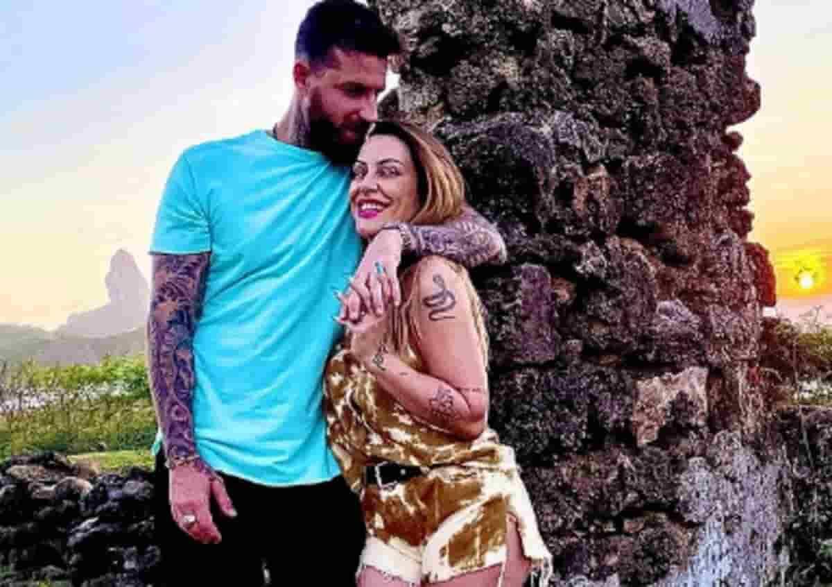 Cleo e o marido em lua de mel, em Noronha. Fotos: Reprodução/Instagram