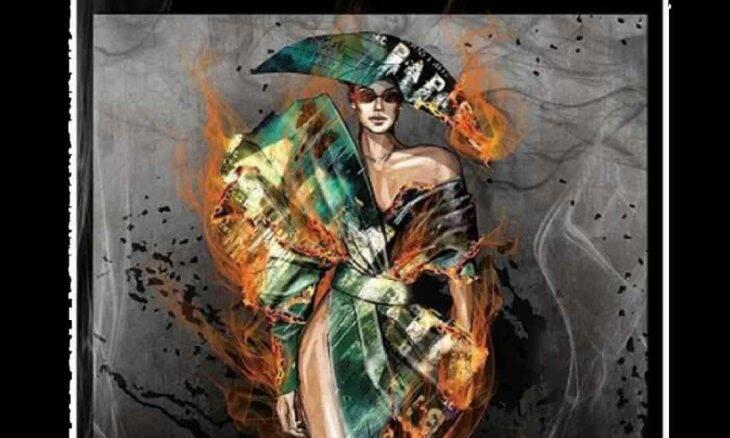 Vestido Balmain Flame. Foto: Reprodução/Instagram