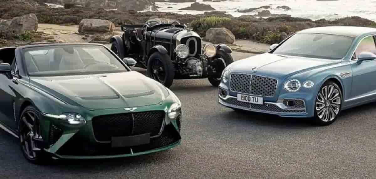 Bentley Bacalar (o primeiro da foto), junto com outros modelos da marca. Foto: Divulgação/Bentley