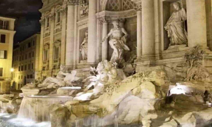 Sítio arqueológico subterrâneo Fontana di Trevi. Fotos: Divulgação/Vicus Caprarius