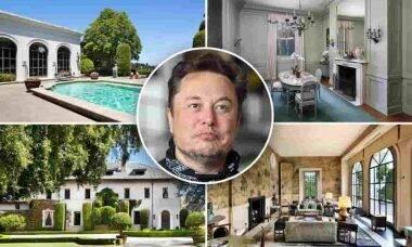 Elon Musk desiste de vender mansão. Fotos: Divulgação/Realtor.com
