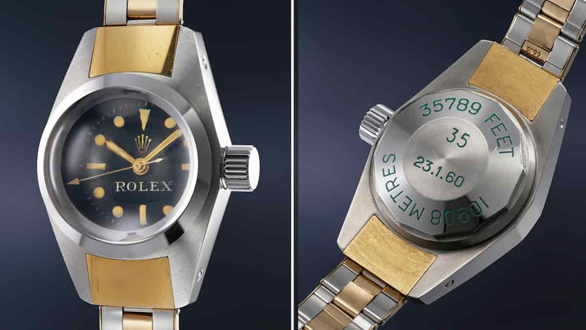 Rolex raríssimo Deep Sea Special vai a leilão. Fotos: