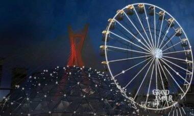 Roda-gigante Grand Amour oferece jantar romântico a 36 metros de altura em SP. Foto: Divulgação/Grand Amour
