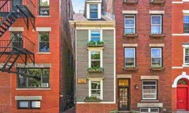 Casa minúscula, com 3 metros de largura, é vendida por quase R$ 7 milhões, em Boston. Fotos: Divulgação/Atlantic Visuals