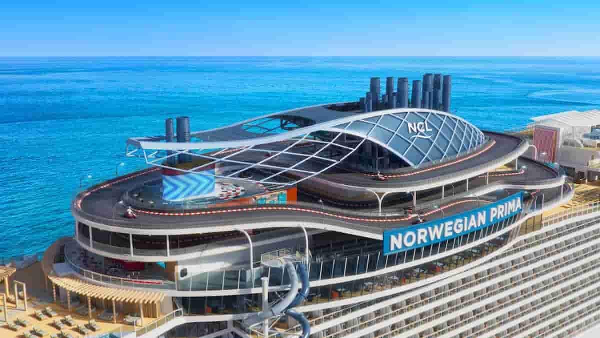 Norwegian Prima, o cruzeiro com escorregador e pista de corrida. Fotos: Divulgação/Norwegian Cruise Line