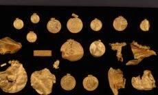 Tesouro de 1.500 anos é encontrado na Dinamarca. Fotos: Divulgação/Centro de Conservação Vejle