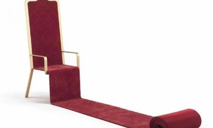 Trono de luxo com tapete vermelho. Fotos: Divulgação/ JCP
