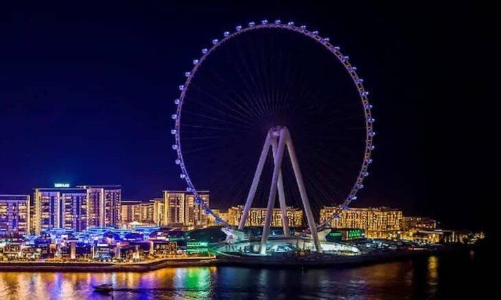 Roda-gigante em Dubai. Foto: Divulgação/ Ain Dubai Ferris Wheel