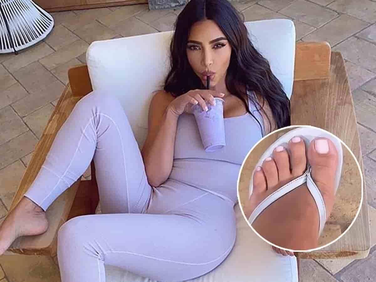 Kim Kardashian descobre página dedicada aos seus pés. Foto: Reprodução/Instagram