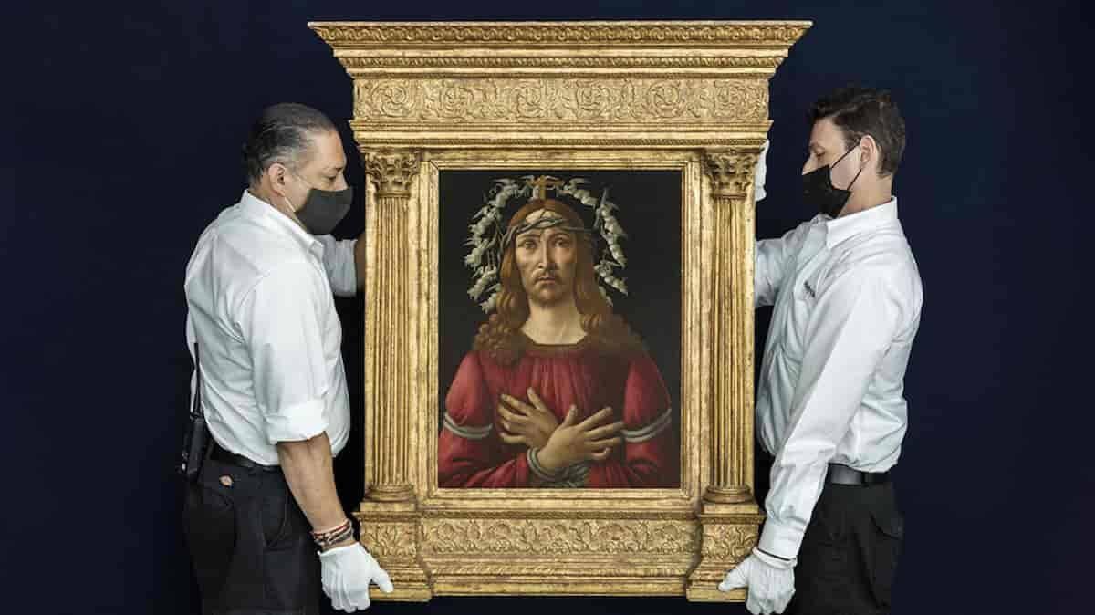 Man of Sorrows, de Botticelli, será vendido em leilão. Foto: Divulgação/ Sotheby's