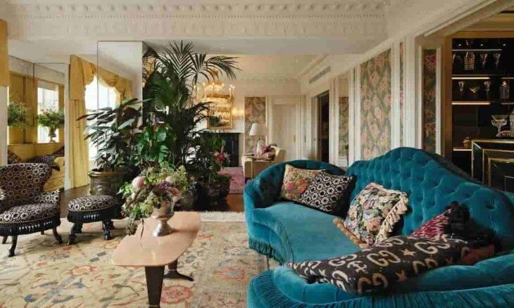 Gucci e Savoy Hotel fazem parceria em decoração de suíte luxuosa. Fotos: Reprodução/ Instagram