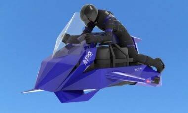 Moto voadora Speeder, da JetPack Aviation já está disponível em pré-venda. Foto: Divulgação/ JetPack Aviation